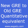 New GRE to Old GRE Quantitative Score Conversion / Comparison table