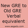 Old GRE to New GRE Verbal Score Conversion table