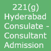 Admission and Bank Statement through Consultants – Hyderabad Embassy -221(g)