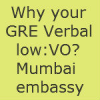 Mumbai US Consulate F1 Visa interview Experience:Why your GRE Verbal score low ?